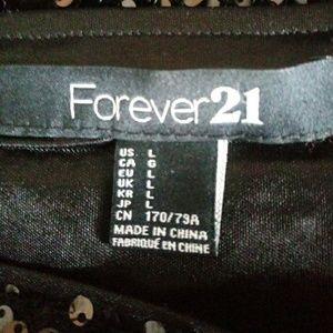 Forever 21 Skirts - Forever 21 Stretch Black Sequin Mini Skirt SZ L